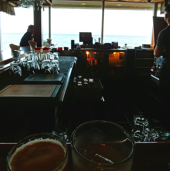 View from the bar at Duke's Malibu